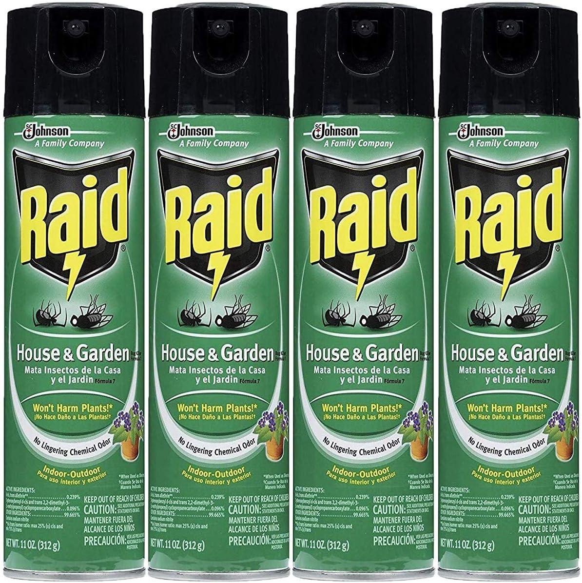 Raid House and Garden Aerosol, 11 OZ (Pack - 4)