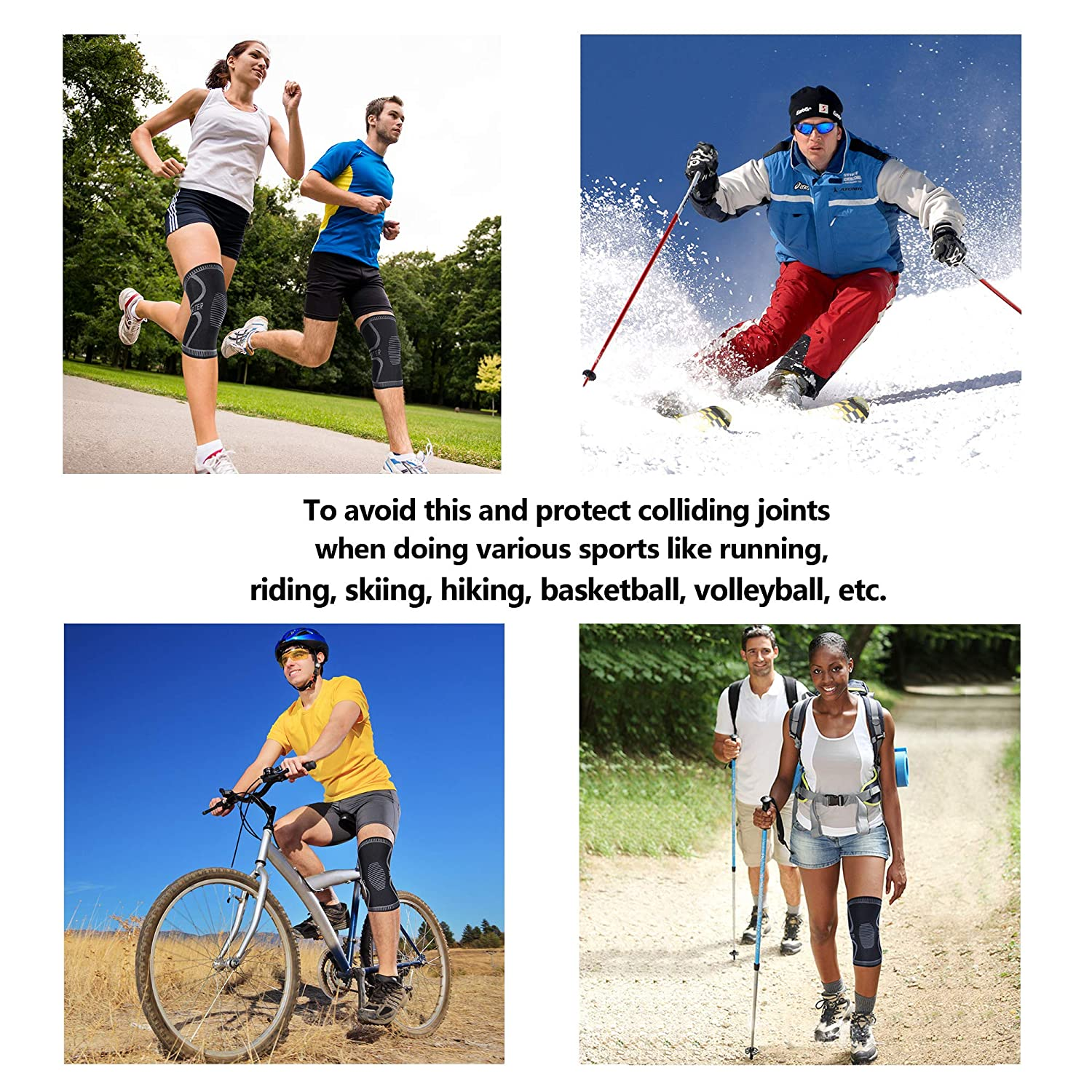 Arthritis and Injury Recovery Compression Sleeve Support Non-Slip for Running Pair Jogging for Joint Pain Relief BERTER Knee Brace for Men Women Hiking