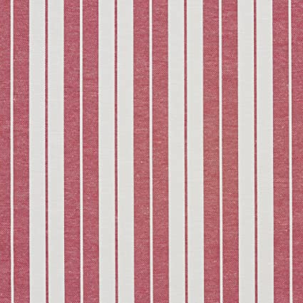 Amazoncom A580 Red And White Ticking Stripes Heavy Duty Upholstery