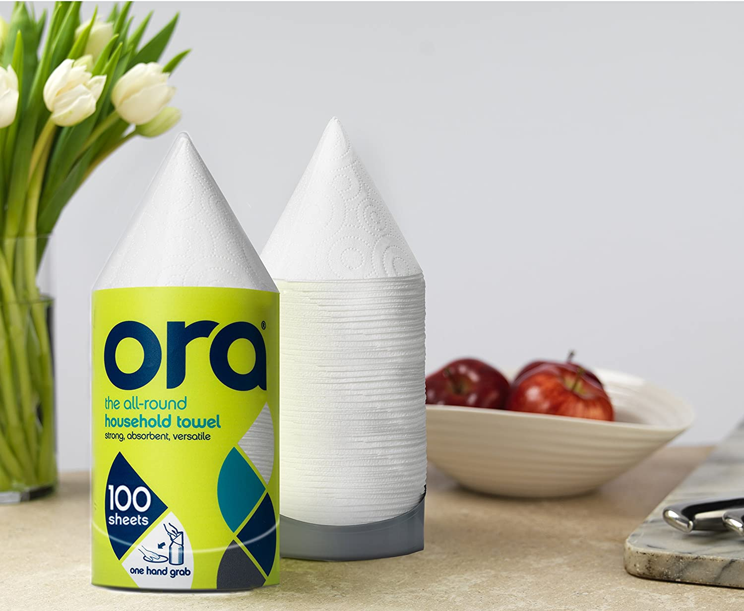 Amazon.com: Ora Paper Towels (single stack 100 sheets) - 3 Pack: Health & Personal Care