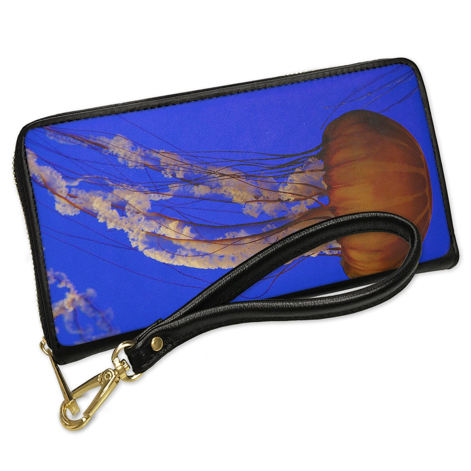Wallet Clutch Jellyfish with Removable Wristlet Strap Neonblond