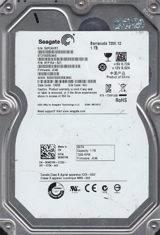 PN 9YP154-521 ST31000524AS Seagate 1TB SATA 3.5 Hard Drive 5VP WU FW JC4A