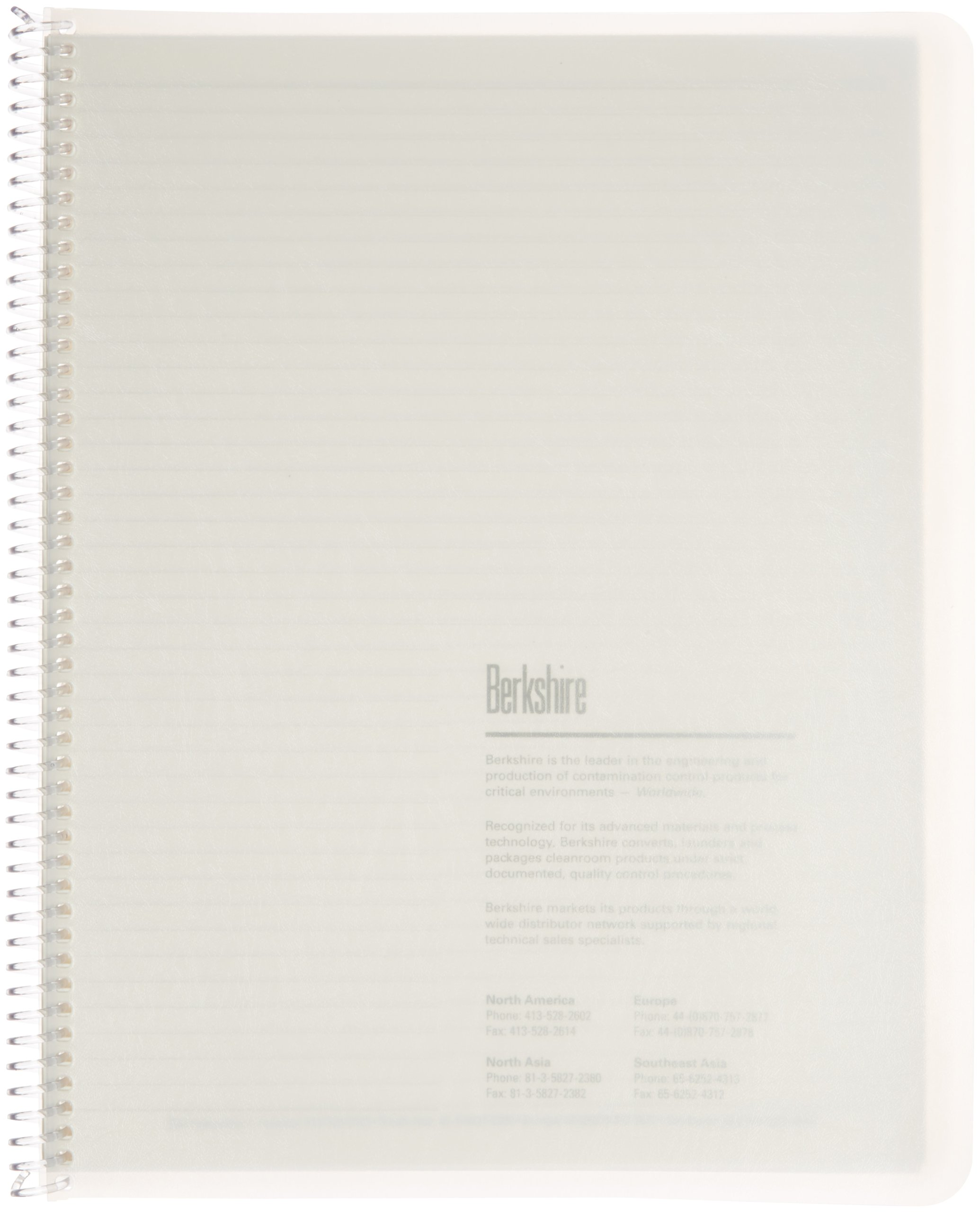 Berkshire BCR College Rule Spiral Notebook, 8-1/2'' x 11'' (Case of 10 Packs)