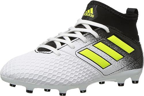 White//Solar Yellow//Black adidas Boys/' Nemeziz 17.3 FG J Soccer Shoe 4 Medium