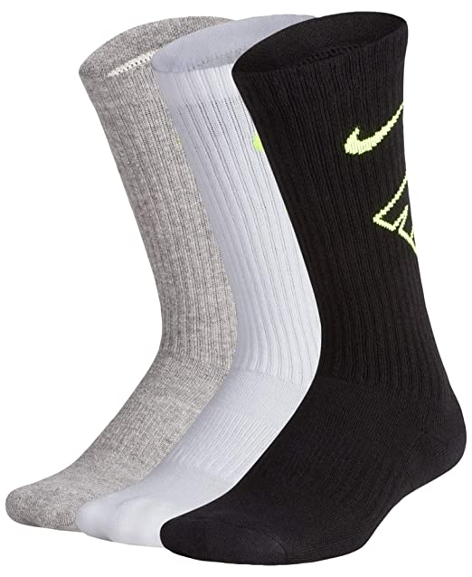 Kids Nike Performance Cushioned Crew Training Socks (3 Pair ...