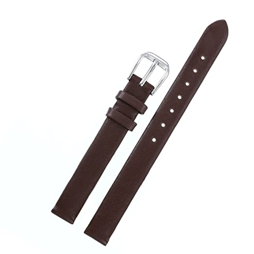 correas de relojes de lujo de 6 mm de recambio de las correas de piel de becerro marrón genuina italiana para los relojes de gama alta de la mujer: ...