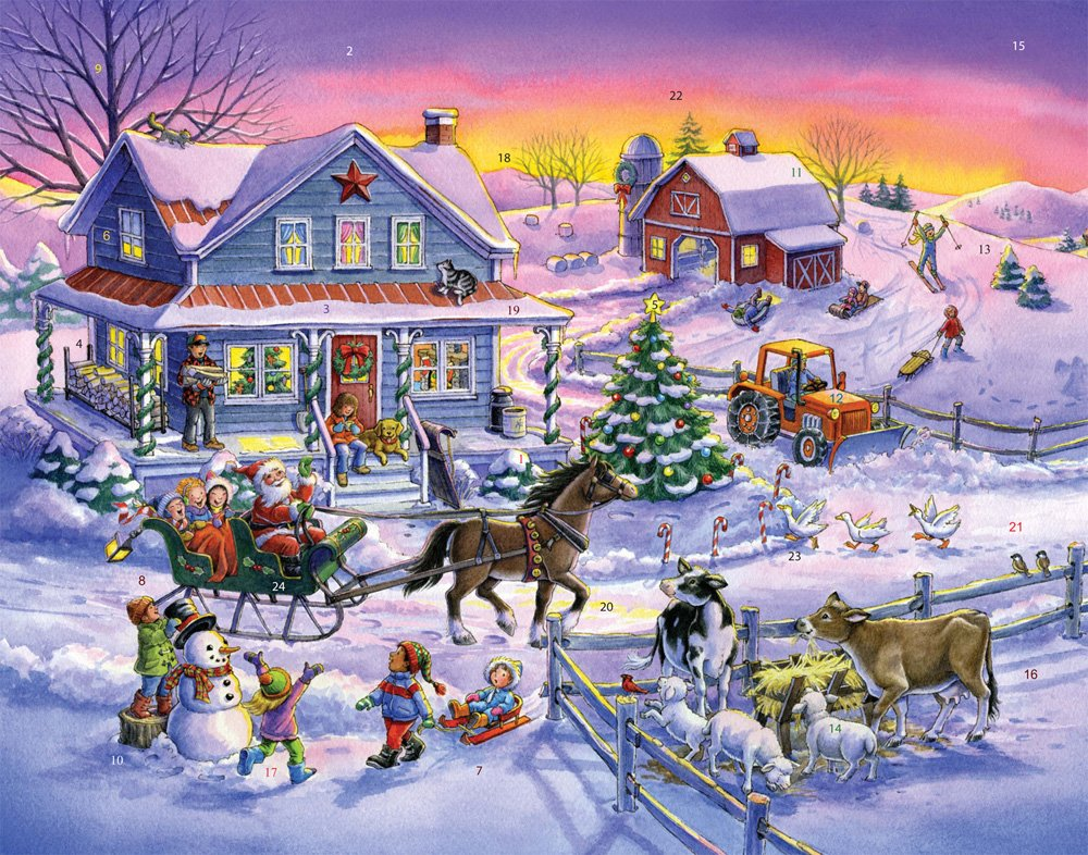 Countryside Christmas Advent Calendar Vermont Christmas Company