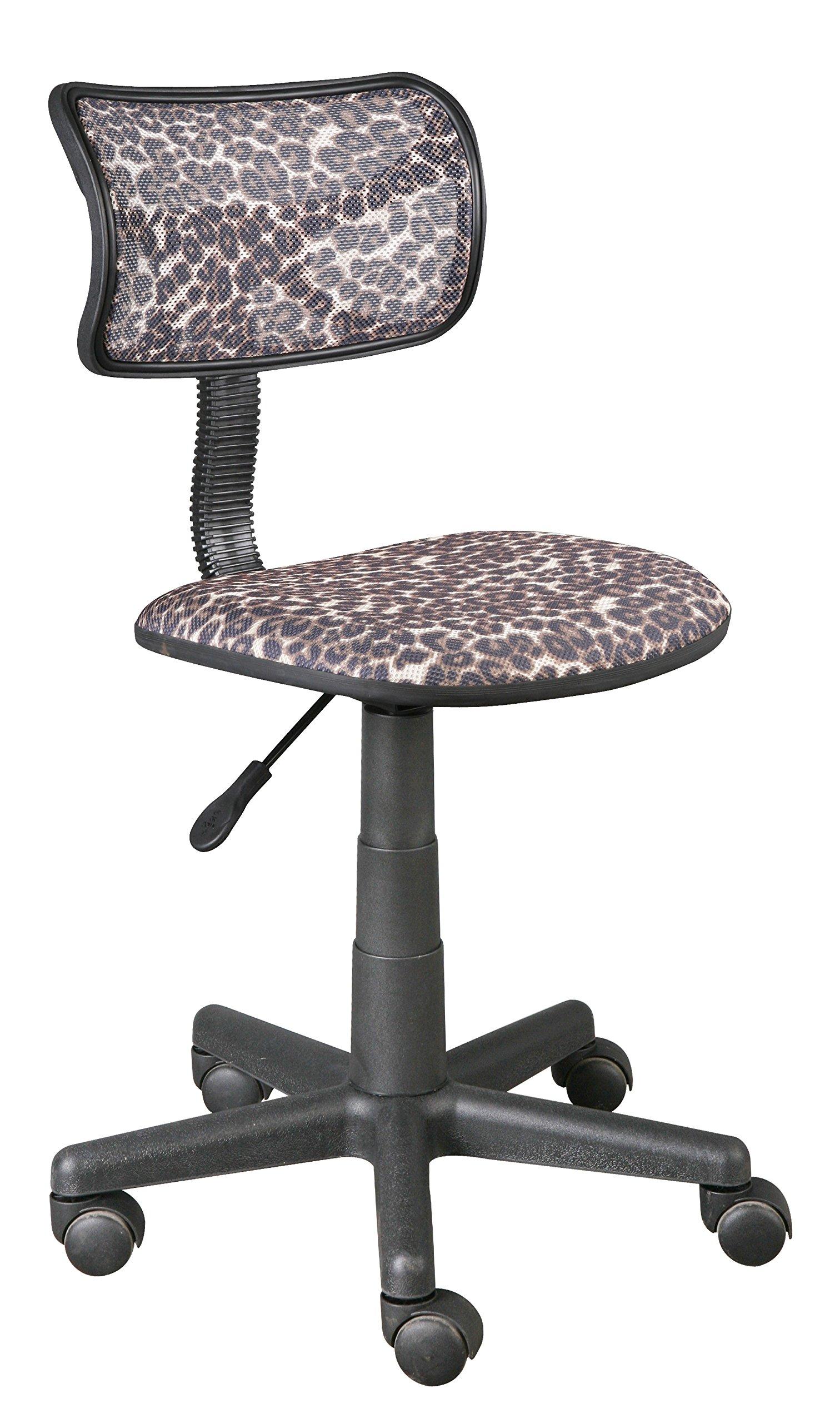Urban Shop High Back Mesh Office Chair, Leopard