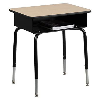 Bon Flash Furniture Student Desk With Open Front Metal Book Box