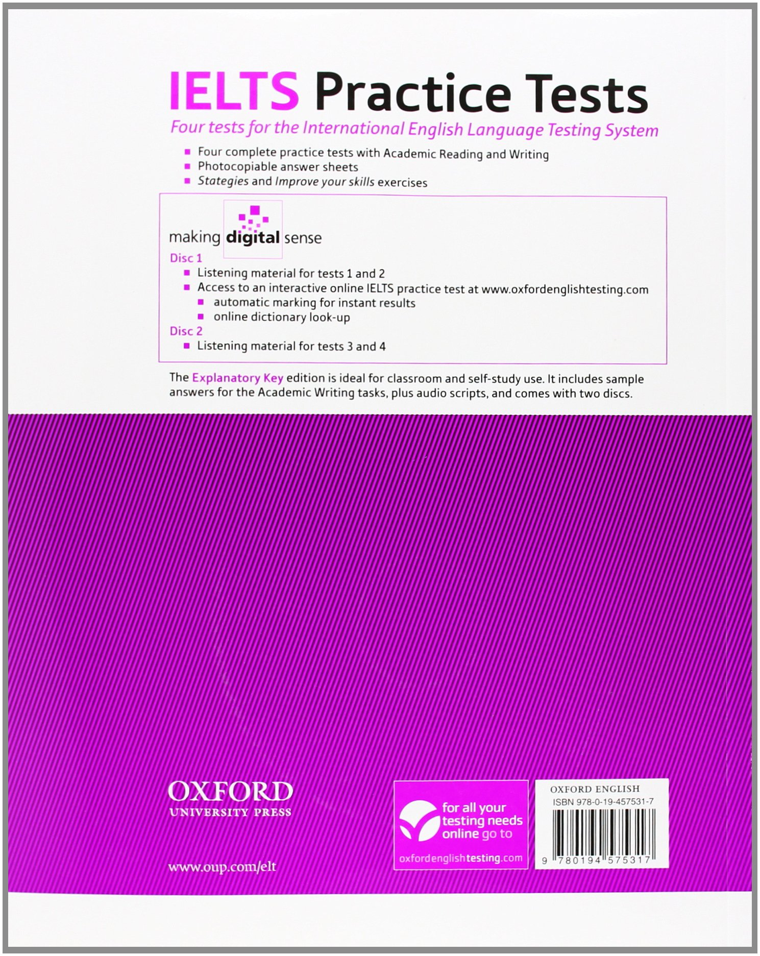 IELTS Practice Tests: With explanatory key and Audio CDs (2