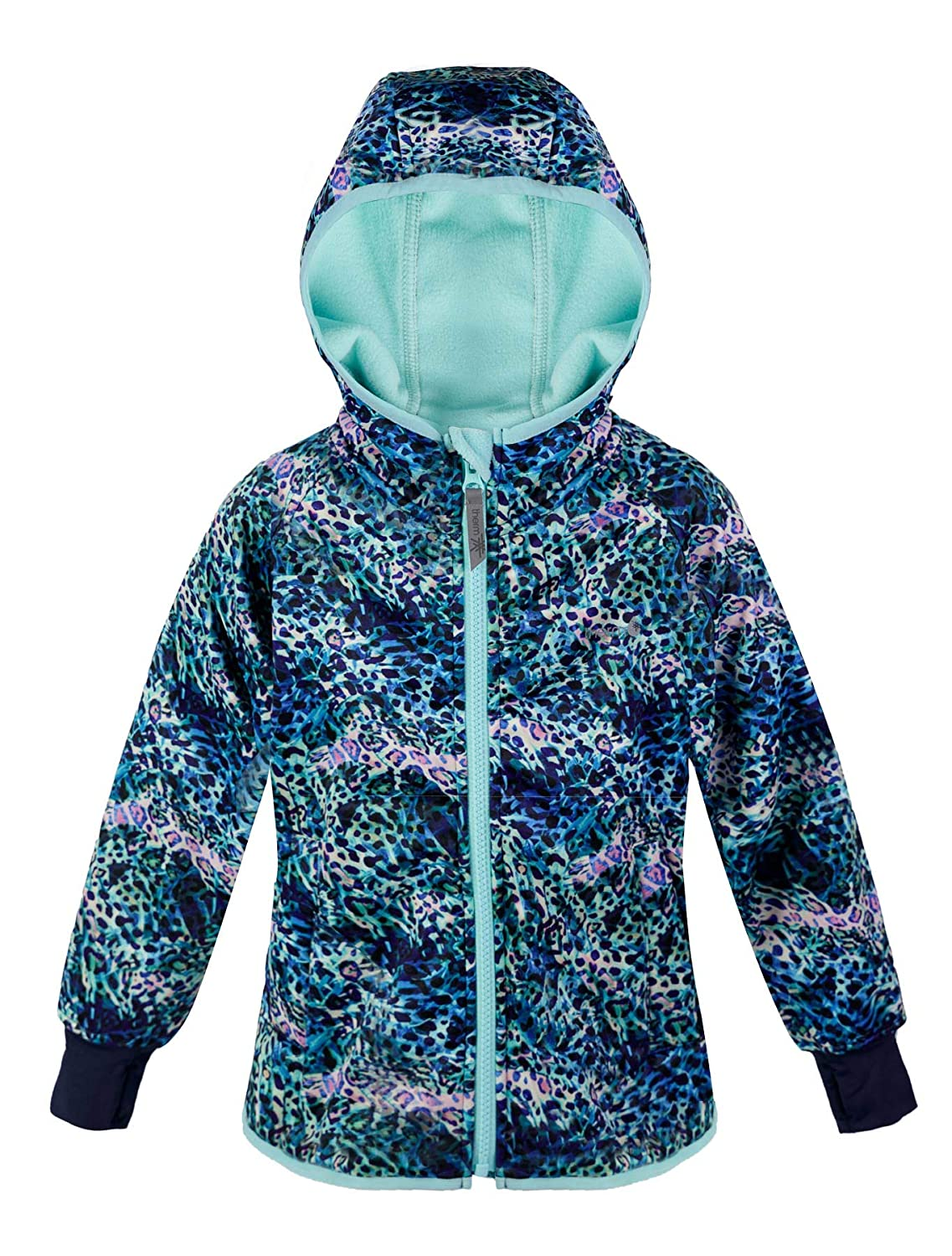 Fleece Lined Toddler Kids Youth Clothes Eco Friendly Fabric Lightweight Winter Raincoat Therm Girls Rain Jacket