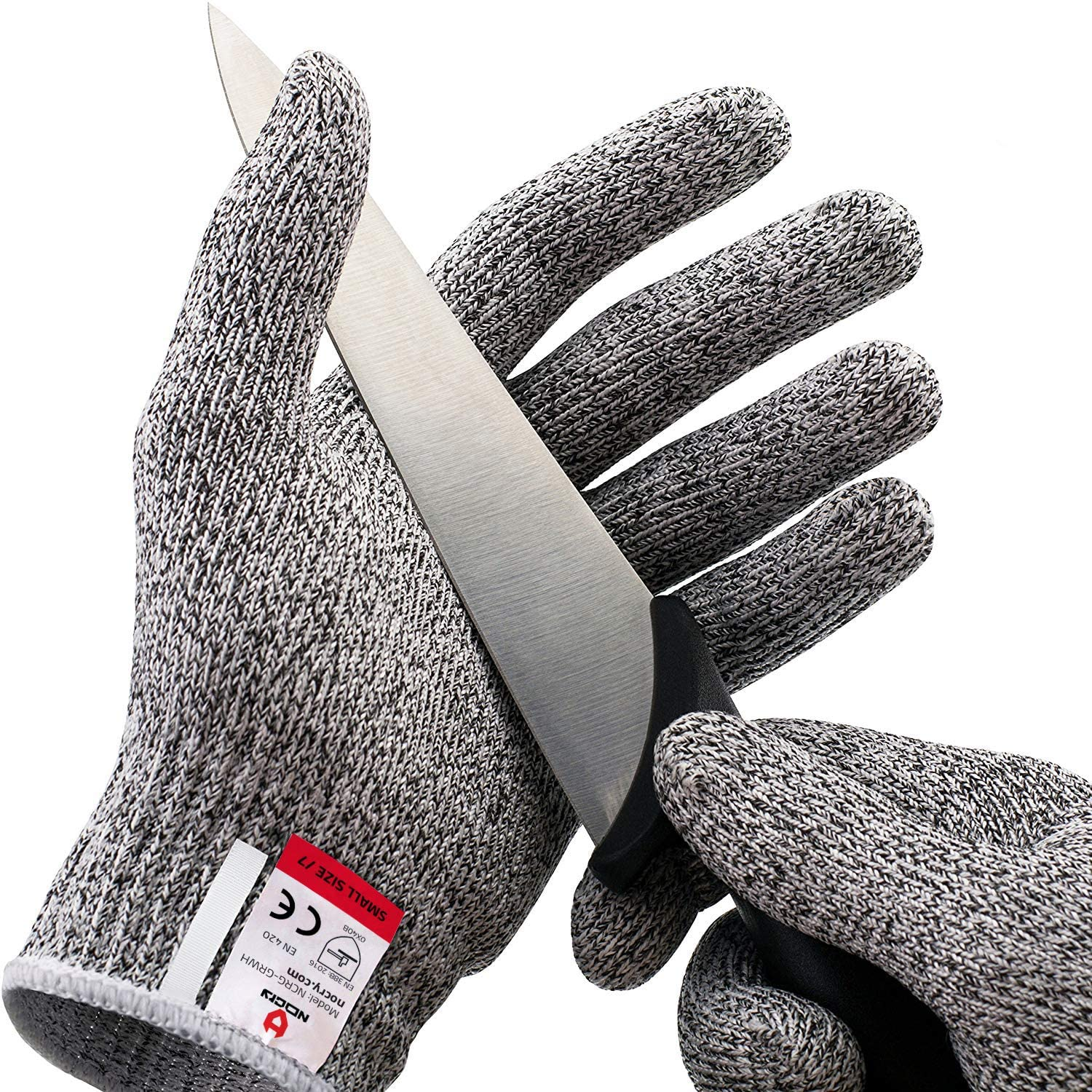 NoCry Cut Resistant Gloves - Ambidextrous, Food Grade, High Performance Level 5 Protection. Size Medium, Complimentary Ebook Included - -