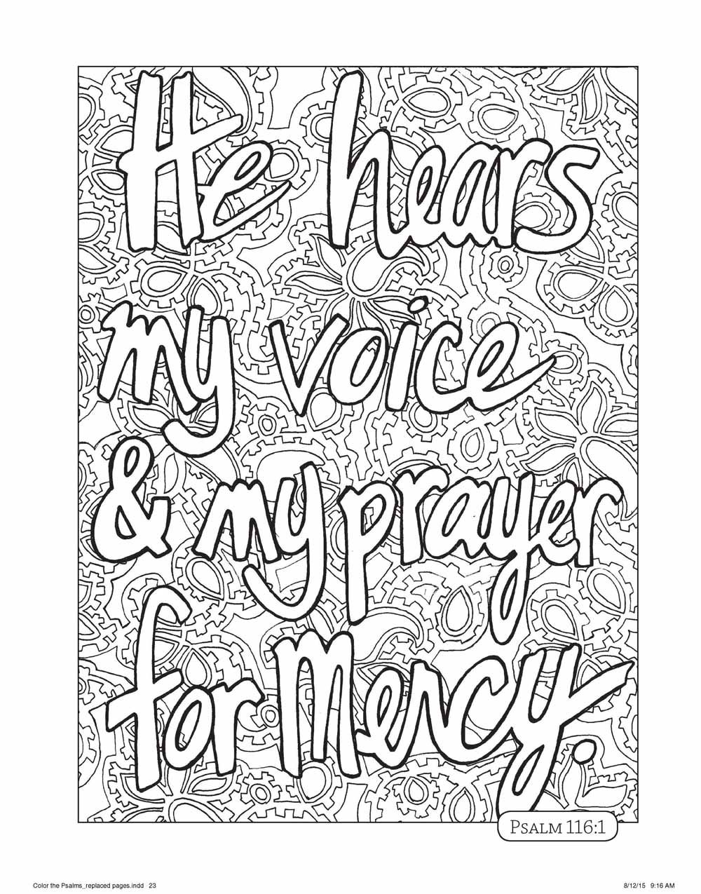 Coloring pages psalm 33 - Amazon Com Color The Psalms An Adult Coloring Book For Your Soul Color The Bible 9780736967907 Michal Sparks Books