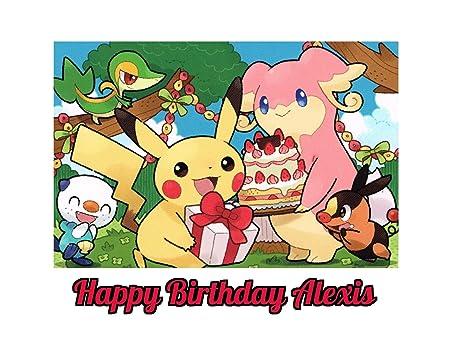Pokemon Pikachu imagen comestible decoración para tarta para ...