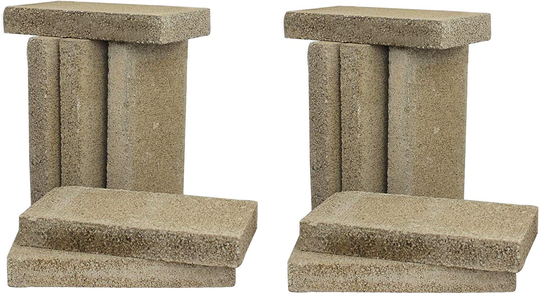 US Stove Company FireBrick 4.5 x 9 x 1.25 Inch Wood Stove Ceramic Fire Bricks (12 Bricks)