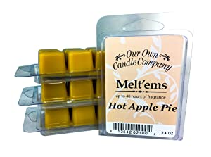 Our Own Candle Company Premium Wax Melt, Apple Pie, 6 Cubes, 2.4 oz (4 Pack)