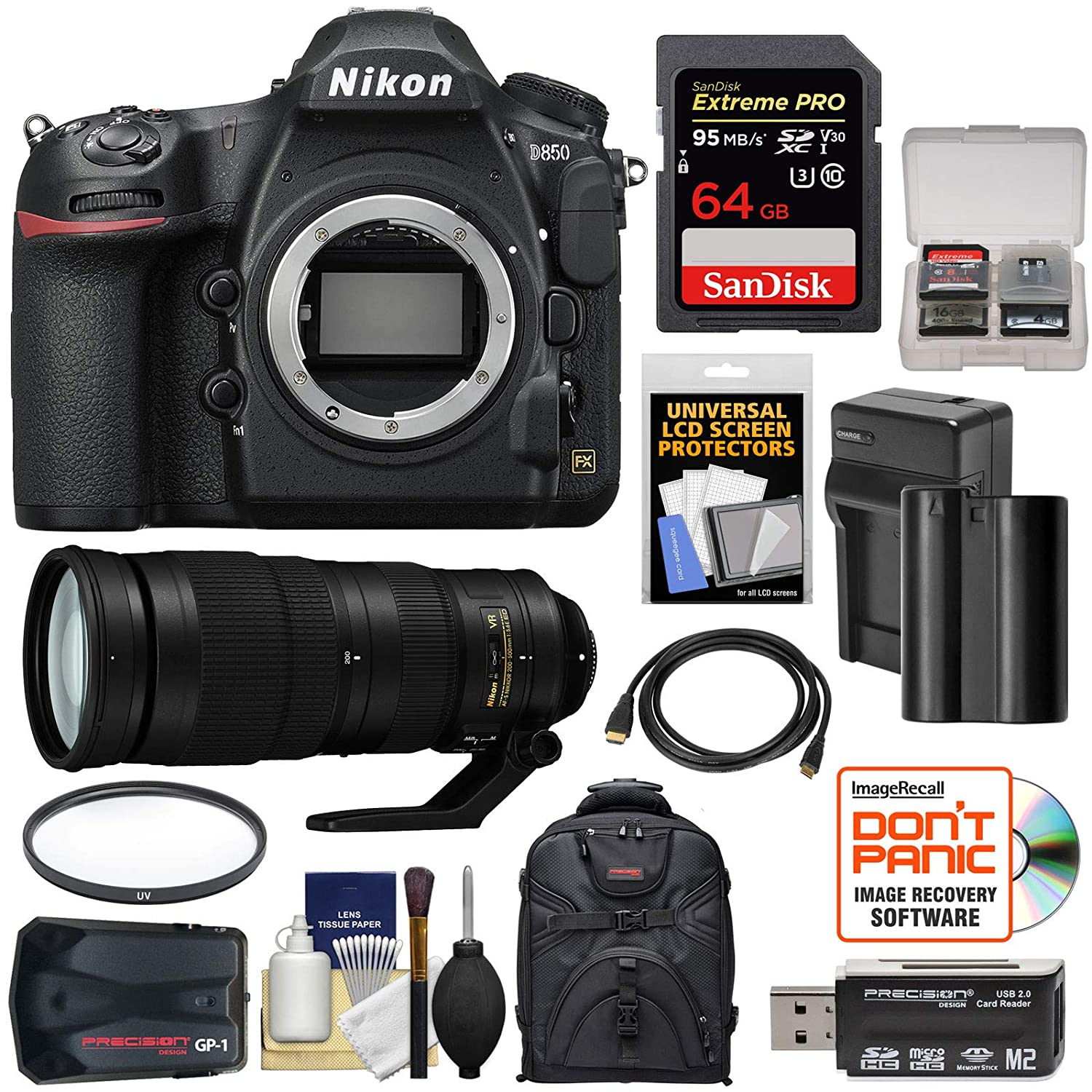 Amazon com : Nikon D850 Wi-Fi 4K Digital SLR Camera Body