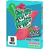 Betty Crocker Gluten Free Fruit Roll-Ups Variety Pack Jolly Rancher Green Apple and Watermelon, 141 Grams