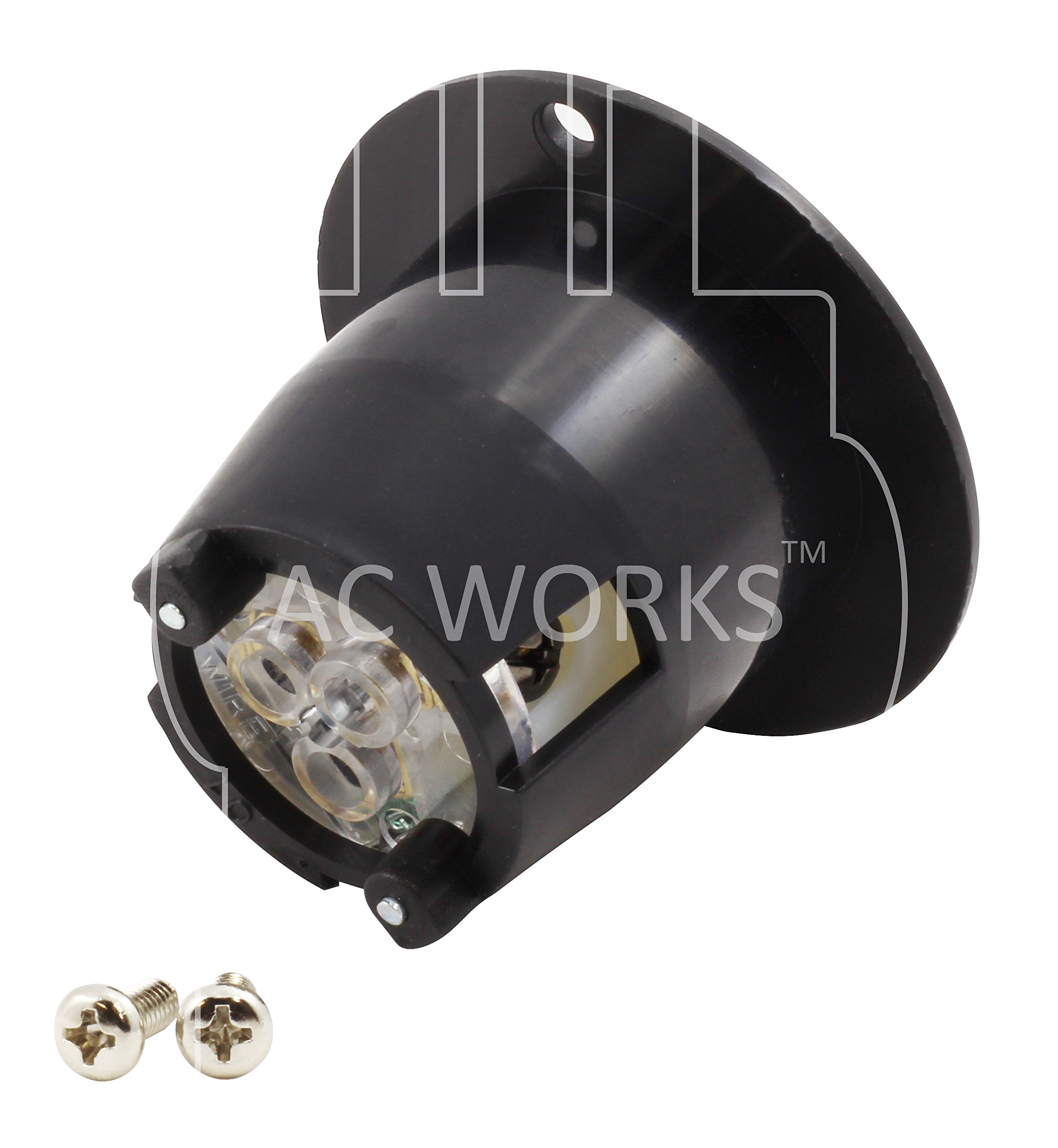 AC WORKS [ASIN520P 20-Amp 125-Volt NEMA 5-20P Flanged Power Input Inlet by AC WORKS (Image #3)
