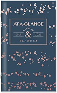 """AT-A-GLANCE 2019-2020 Monthly Planner 2 Year, 3-1/2"""" x 6"""", Pocket, Badge Splatter Dots (1148D-021)"""