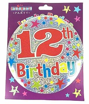 Amazon.com: Edad 12 cumpleaños Insignia 12th cumpleaños ...