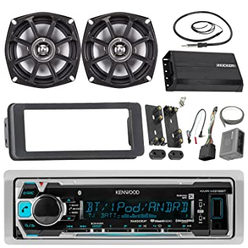 Kenwood kmrm315bt Bluetooth estéreo receptor Bundle Combo con Dash Kit + 2 x 5,25