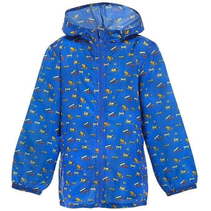 876444b0edae MyShoeStore Kids Children Boys Girls Rain Mac Outdoor Kagoul Kagool ...