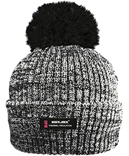 6e3e22c861a RockJock R40 Thermal Insulation Ladies Marl Bobble Hat with Fleece Lining