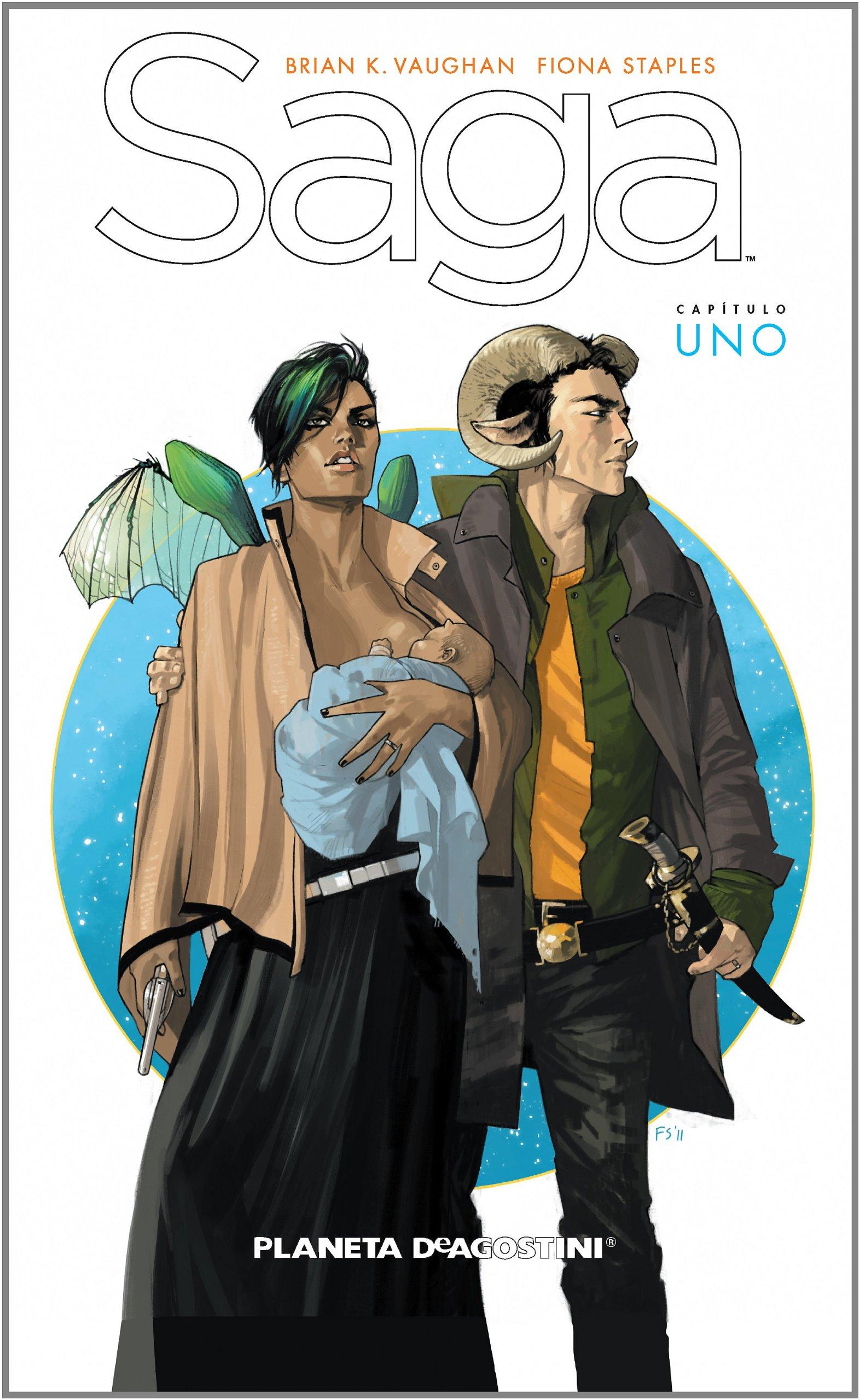 Saga nº 01 (Independientes USA) Tapa dura – 23 oct 2012 Brian K.%Vaughan Fiona Staples Diego de los Santos Planeta DeAgostini Cómics