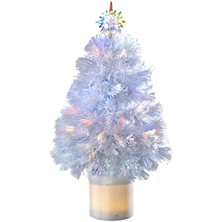 WeRChristmas Pre-Lit Fibre Optic Christmas Tree with Bluetooth  Compatibility, 2 ft/60 - WeRChristmas Pre-Lit Fibre Optic Christmas Tree With Bluetooth