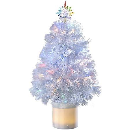 WeRChristmas Pre-Lit Fibre Optic Christmas Tree with Bluetooth ...