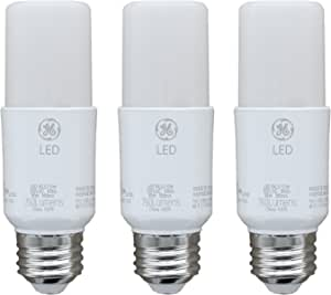 GE Lighting 79368 LED Bright Stik 10-watt (60-Watt Replacement), 760-Lumen Light Bulb Non-Dimmable with Medium Base, Soft White, 1 Box (3 Bulbs Total)