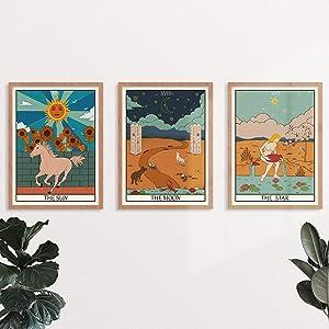 YUMKNOW Boho Hippie Room Decor - Unframed 8x10