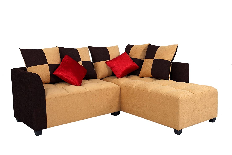 Muebles Casa Cornett CASA022 Five Seater Sofa (Beige And Brown)