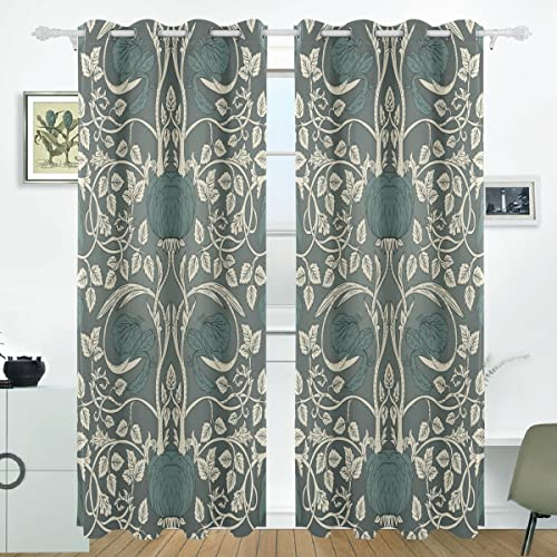 JSTEL William Morris Curtains Drapes Panels Darkening Blackout Grommet Room Divider