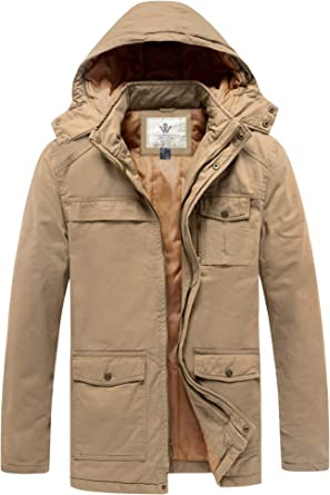 Generic Mens Winter Thicken Stand Collar Cotton Padded Down Jacket Parka Coat