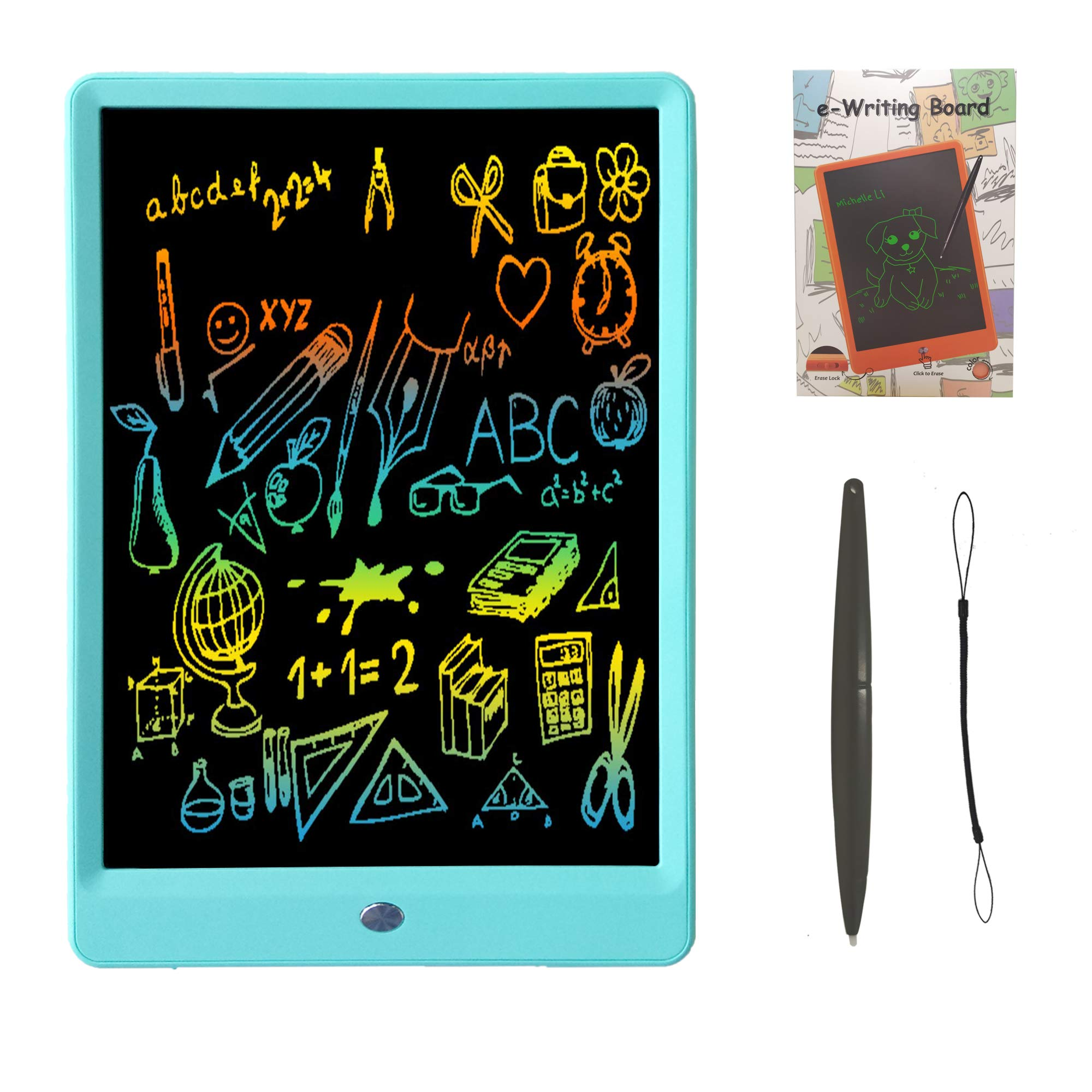 Drawing Tablet 10 Inches LCD Writing Tablet Colorful Screen, Doodle Board Electronic Doodle Pads Writing Board for Kids and Adults(Blue) by ZBHT
