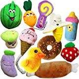 Jalousie 12 Pack Dog Squeaky Toys Cute Pet Plush Toys Stuffed Puppy Chew Toys for Small Medium Dog Puppy Pets - Bulk Dog…