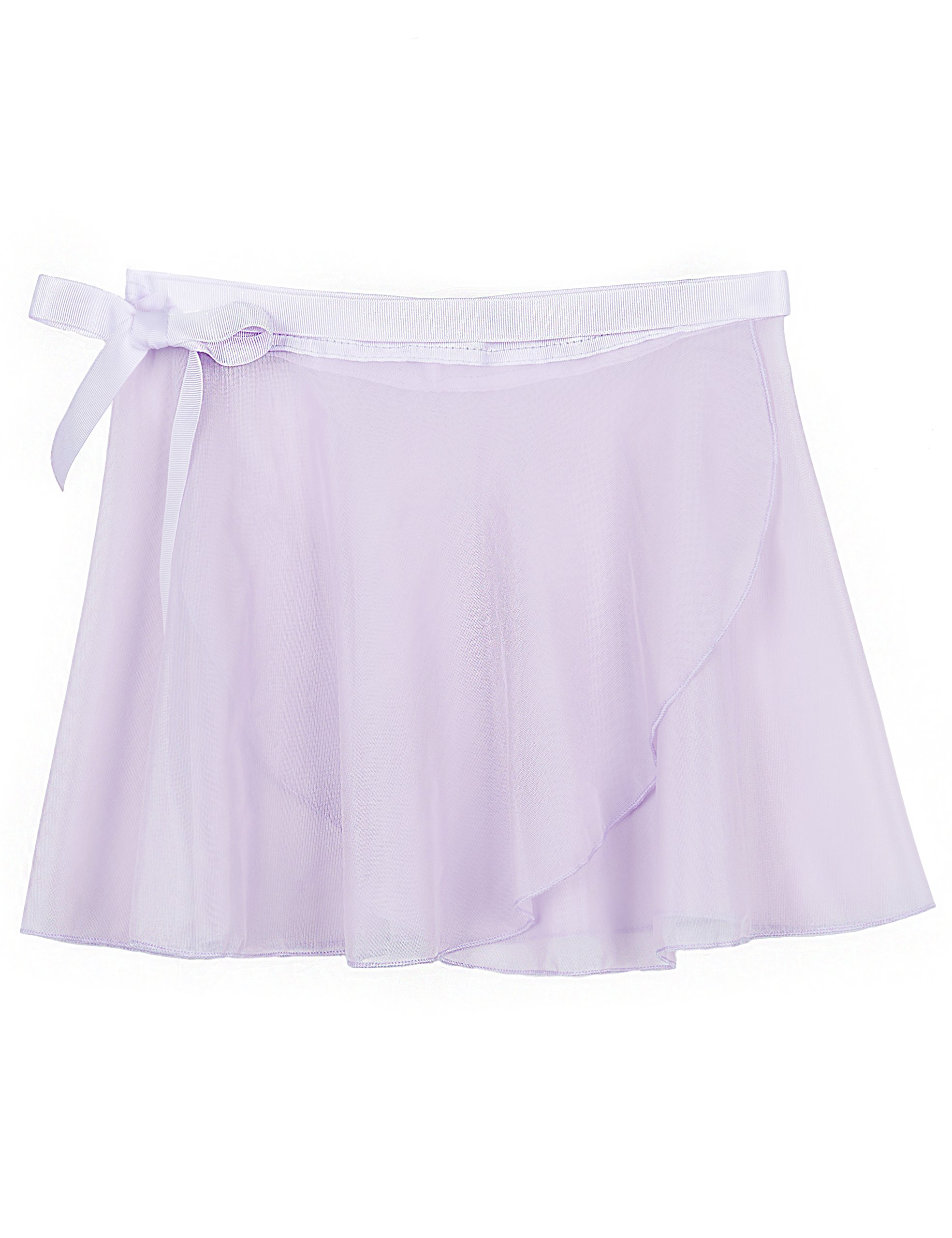 MdnMd Ballet Skirt for Girls with Tie Waist (Purple, Age 8-12,Height 57-64'')