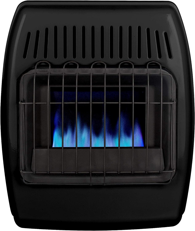 Dyna-Glo 10,000 BTU Liquid Propane Blue Flame Ice House Vent Free Wall Heater, Black