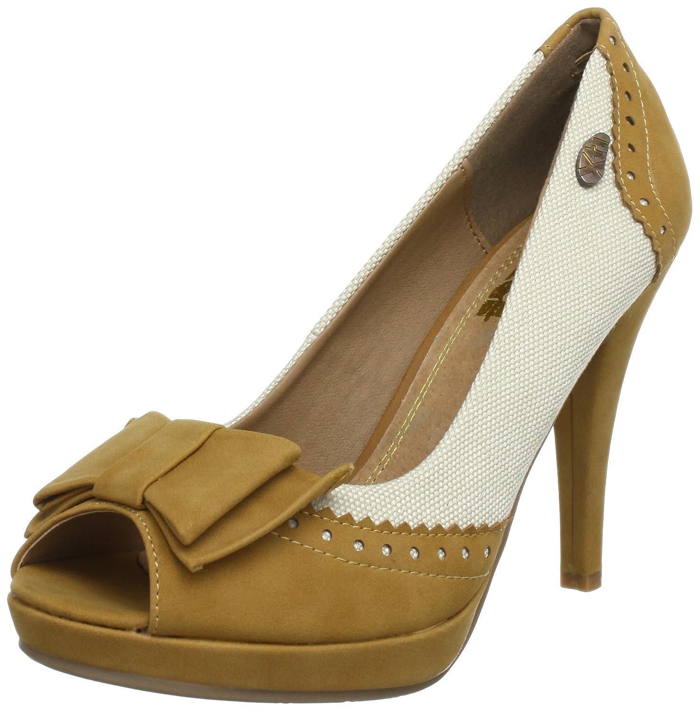 XTI Woman Peeptoe Pumps XTI25765 SP13 - Peep Toes para mujer 40 EU|Marrón (Braun (Camel X6))