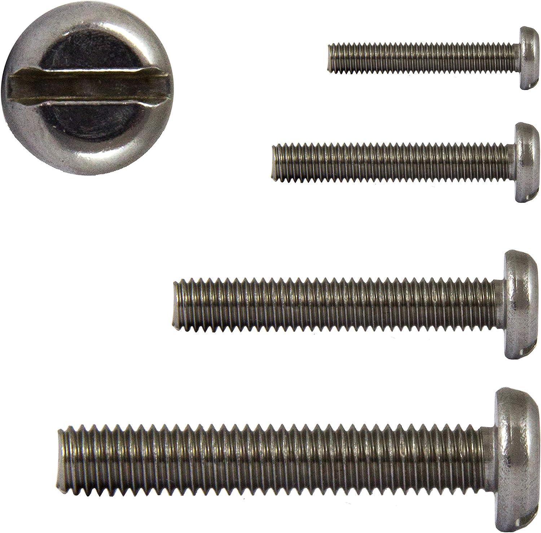 FASTON/® Flachkopfschrauben mit Schlitz M4x8 DIN 85 aus rostfreiem Edelstahl A2 V2A Langschlitzschrauben Flachkopf Schrauben 10 St/ück