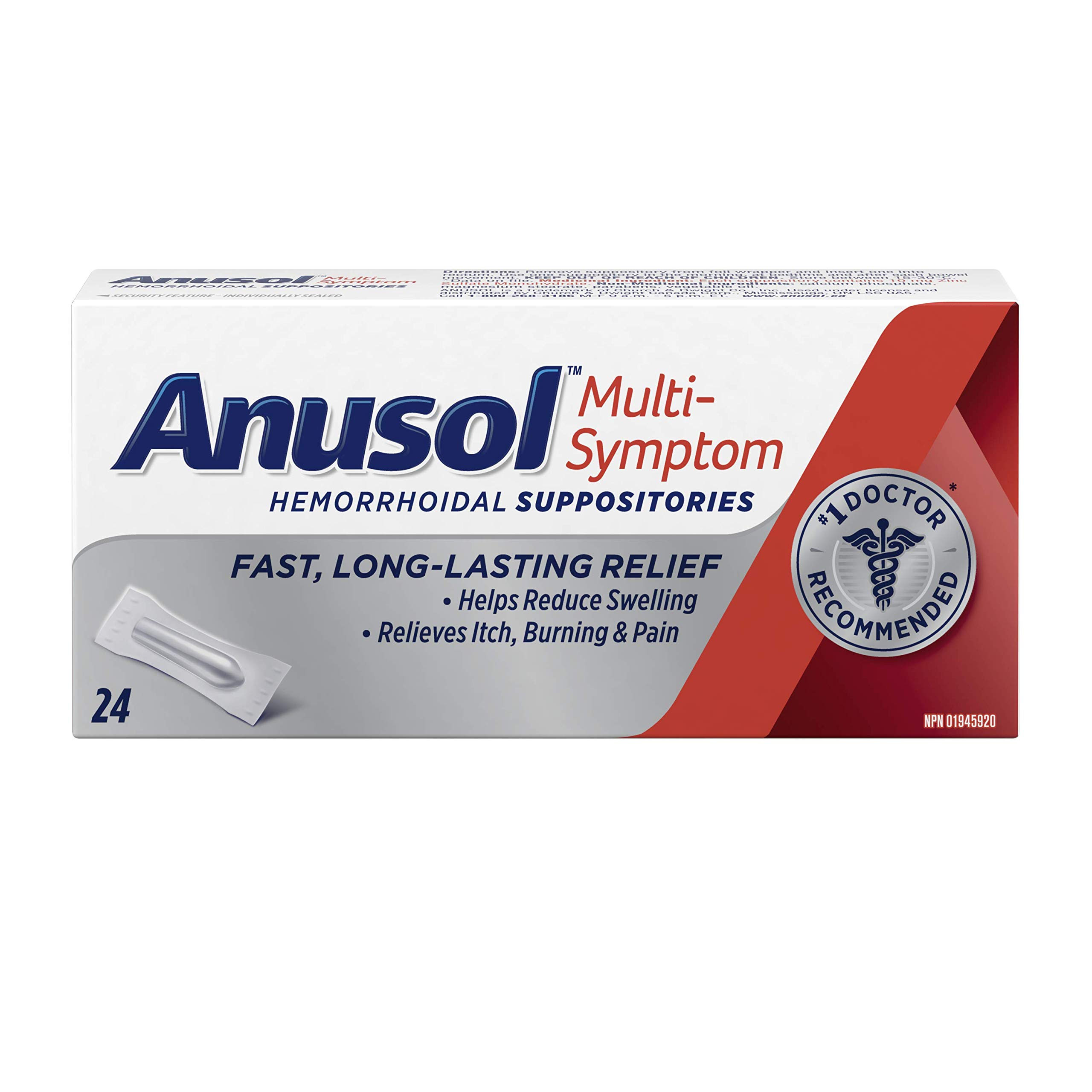 Anusol Suppositories 24 Tablets by Anusol