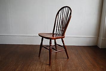 秋田木工ダイニングチェア曲げ木ウィンザーチェア食堂椅子カフェいすウッドチェア中古家具