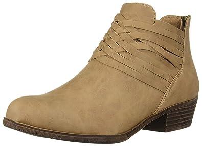 Sugar Rhett Damens's Casual Boho Short Short Boho Ankle Bootie with Criss Cross ... 408067