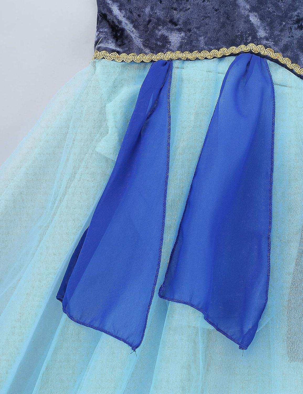 Agoky Enfant Fille Longue Robe de Ballet Danse Classique Tutu Ballroom Tulle Justaucorps Danse Moderne Contemporain Robe /à Bretelle Princesse Soir/ée Bal 4-14 Ans