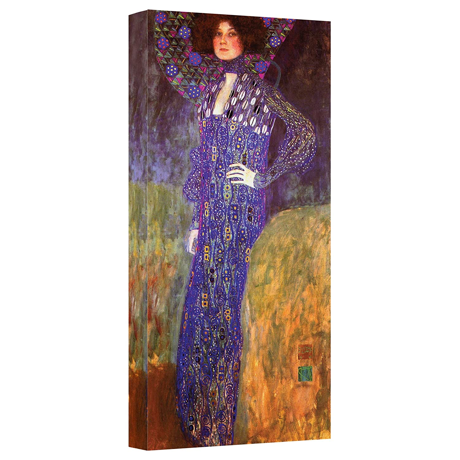16 by 36-Inch The Art Wall Gklimt19-16x36-w ArtWall Emilie Floege Gallery Wrapped Canvas by Gustav Klimt
