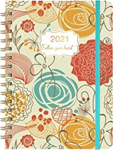 "2021 Planner - Weekly & Monthly Planner with Flexible Hardcover, Jan 2021 - Dec 2021, 8.46"" x 6.37"", Twin- Wire Binding, Monthly Tabs, Inner Pocket, to-Do List, Making Your Life Better"