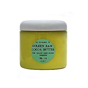 GOLDEN COCOA BUTTER ORGANIC RAW Grade A PRIME PRESSED UNREFINED 16 OZ/1 LB
