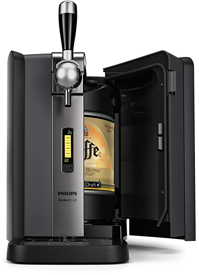 Philips HD3720/25 - Dispensador de cerveza de barril, 6L, Pantalla LCD con indicador temperatura, hasta 30 dias de cerveza fresca, color negro: Amazon.es: ...